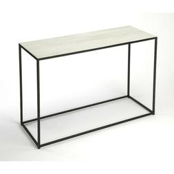 phinney marble metal console table