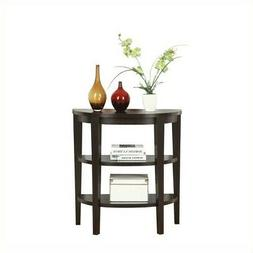 Newport Console Table, Espresso, Wood, Half-Circle, Contempo