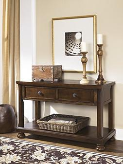 Porter Rustic Brown Color Console Sofa Table