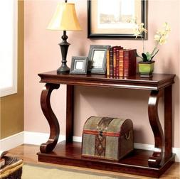 Furniture of America Prozy Classic Living Room Narrow Cherry