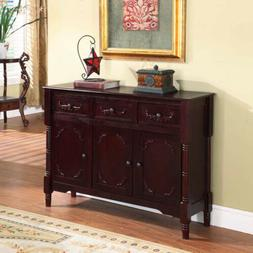 Kings Brand R1021 Wood Console Sideboard Table with Drawers