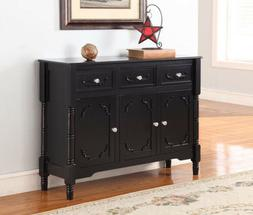 King's Brand R1121 Wood Console Sideboard Table with Drawers