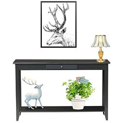 CostRoyce Rectangular 2 Tiers Shelf Entryway Console Table w