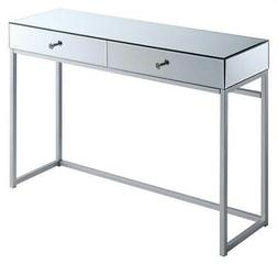 Rectangular Console Table in Silver Finish