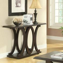Coaster Furniture Rectangular Wood Console Table