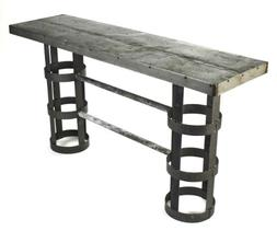 Zentique Recycled Metal Cylinder Console Table