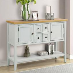 Retro Console Table Wood Entryway Sofa Accent Hallway Living
