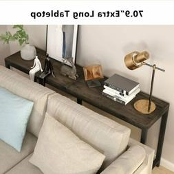 Retro Style Rustic solid wood and Metal Sofa Table Home Hall