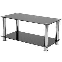 riverside collection black glass coffee table