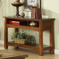 Riverside Furniture Craftsman Home Console Table in American