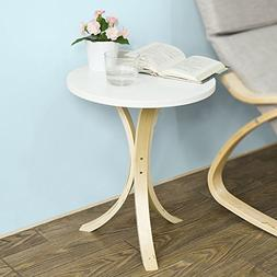 Haotian Round Wooden Side Table, End table,Console Table,Tea