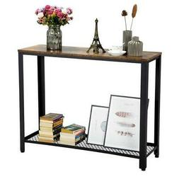Rustic Brown Sofa Side Table Console Table for Entryway Livi