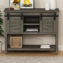 Rustic Buffet Cabinet Sideboard Console Table Wood w/Storage