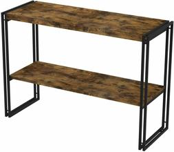 IRONCK Rustic Console Table 2 Tier, Entryway Table with 1.58