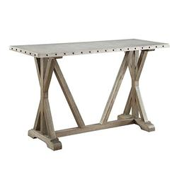 Bowery Hill Rustic Console Table in Driftwood