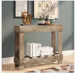 Rustic Console Table Entryway Sofa Accent Reclaimed Wood Far