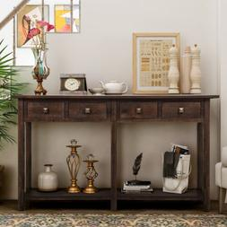 Rustic Console Table Vintage Distressed style Entryway Table