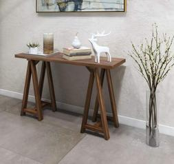 Rustic Counter Height Console Dining Table Wood Country Farm