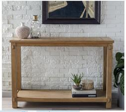 Rustic Console Table Hall Entryway Wood Distressed Solid Sof