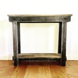 Rustic Handcrafted Reclaimed Console Table - Self Assembly -
