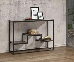 Rustic Industrial Console Table Furniture Vintage Accent Wea