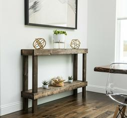 Rustic Large Small Wooden Console Sofa Table Real Wood Conte