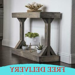 Rustic Solid Wood Entryway Console Table Accent Stand Sofa S