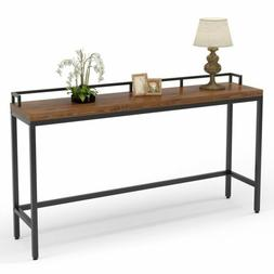 """Rustic Solid Wood Sofa Hallway Console Table 70.9"""" Extra Lon"""