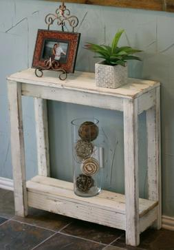 Rustic Wooden Small Entry Console Table