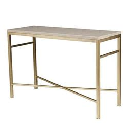 251 First Selby Cream Stone Faux Stone Console Table