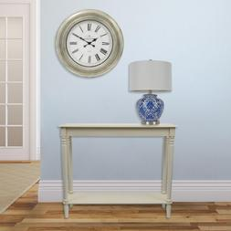 Simplify Antique White Large Console Table