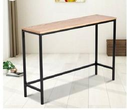 Slim Console Table Wood Metal Distressed Entryway Industrial