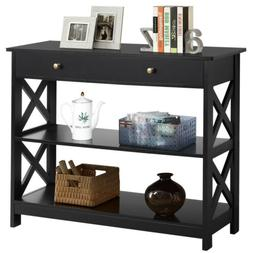 sofa side console table with drawer