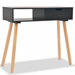 """vidaXL Solid Pinewood Console Table 31.5"""" Black Telephone Si"""