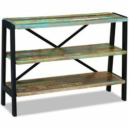 vidaXL Solid Reclaimed Wood Sideboard Side Console Table Nig