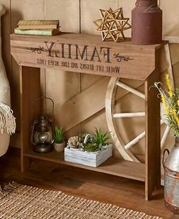 Solid Wood Finish FAMILY Rustic Country Entryway Console Acc