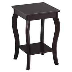 go2buy 15 x 15 x 24''  Wood Accent Side End Table with C