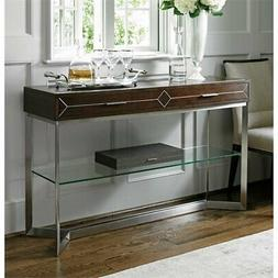 Beaumont Lane Steel Console Table in Brown