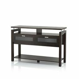 Bowery Hill Storage Console Table in Espresso