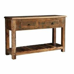 storage console table reclaimed wood