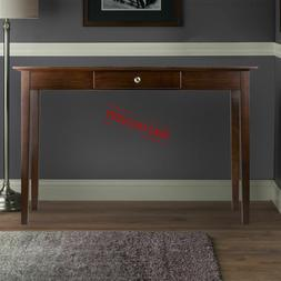 Wood Console Table Storage Drawer Rectangular Hallway Living