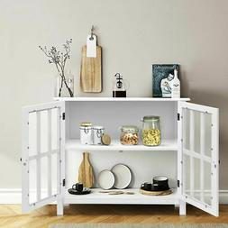 storage sideboard buffet wooden cabinet console table