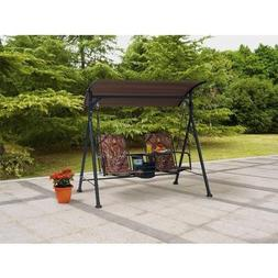 Outdoor Swing Lounge Big and Tall 2-seat Bungee Swing Fade-r