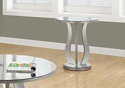 End Table in Brushed Silver Finish