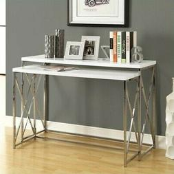 TABLE SET - 2PCS CONSOLE TABLE SET Glossy White