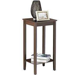 Yaheetech Tall Wood End Table Sofa Side Coffee Table Night S