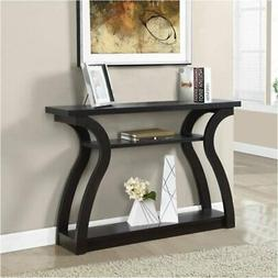 """Pemberly Row 47"""" Three Tier Hall Console Accent Table in Cap"""