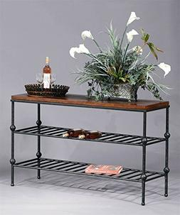 Bassett Mirror Company Tiered Console Table in Gun Metal & F