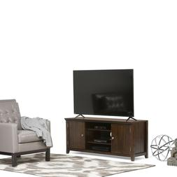 Tobacco Brown TV Stand For Up To 60-Inch TV's Console Sofa T