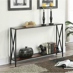 Convenience Concepts Tucson Console Table in Black and Cherr